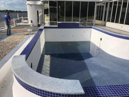 Inground Pool During Glasscoat Renovation