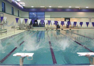 Custom Commercial Concrete  Indoor Lane Pool