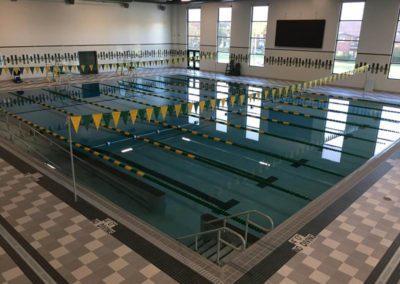 Custom Commercial Concrete Indoor Lane Pool, Ashwaubenon High School, Wisconsin