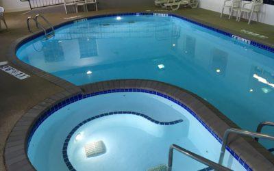 Indoor Pool & Spa After Glasscoat Renovation