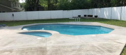 Swimming Pool & Spa Renovation: After
