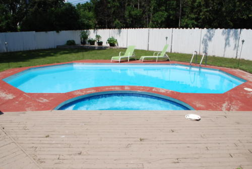 Swimming Pool & Spa Renovation: Before