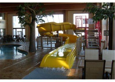 Pool Slide and Custom Commercial Concrete Indoor Pool, Comfort Suites, Green Bay, Wisconsin