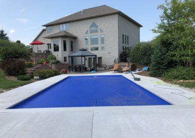Inground Rectangle Custom Concrete Pool 18x36, with Auto Cover. Appleton, Wisconsin