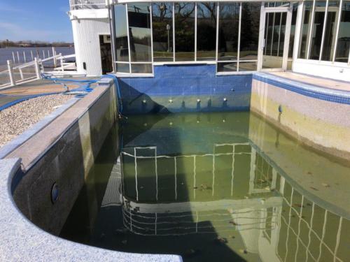 Inground Pool Before Glasscoat Renovation